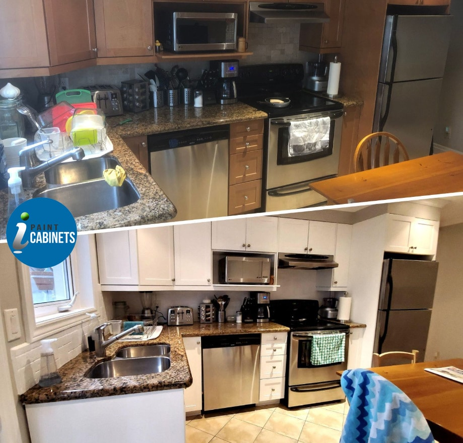 I Paint Cabinets Before After Repainting Spray