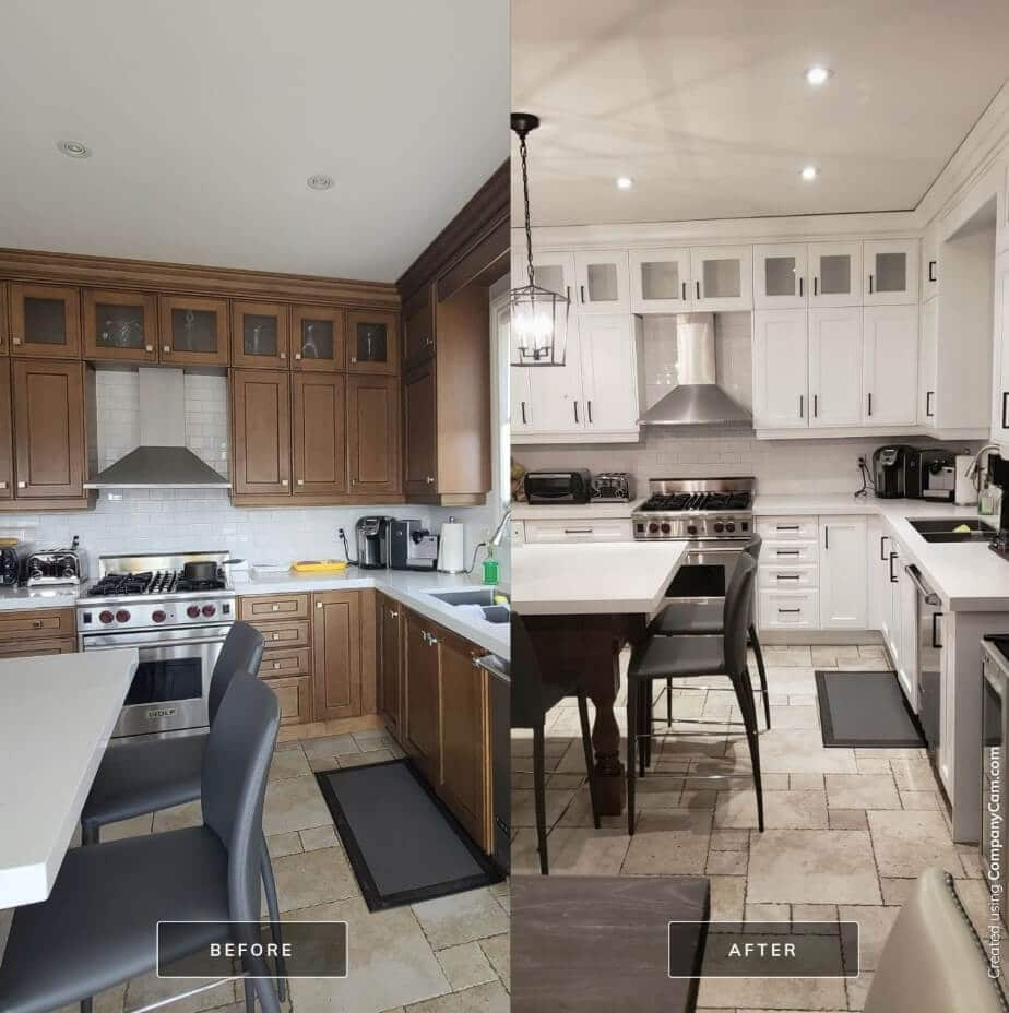 Refinishing Spray Painting Kitchen Cupboards Cost